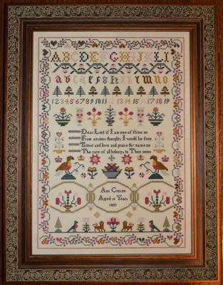 Black Branch Needlework, Ann Croxen 1833 Sampler, Needles and Things