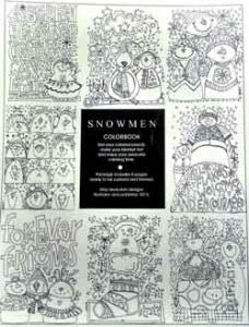 Amy Bruecken Designs, Snowmen - Colorbook (8 Pages), Needles and Things