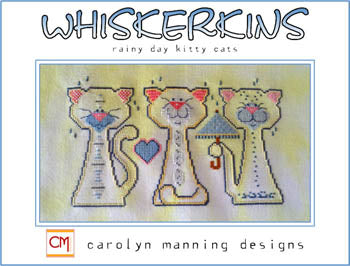 CM Designs, Whiskerkins Trio, Rainy Day Cats (April), Needles and Things