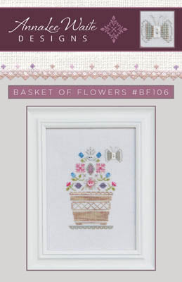 Annalee Waite Designs, Basket Of Flowers (w/btns), Needles and Things