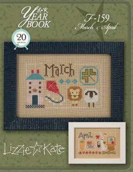 Lizzie Kate, Yearbook Double Flip - March/April, Needles and Things