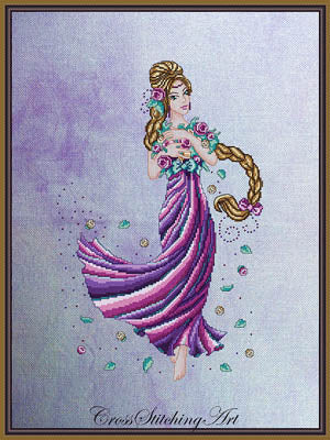 Cross Stitching Art, Rapunzel, Needles and Things