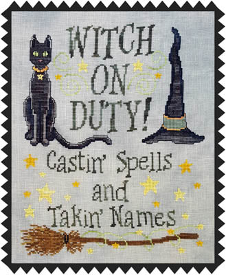 Waxing Moon Designs, Witch On Duty, Needles and Things