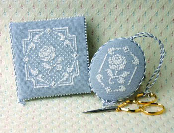 Sweetheart Tree The, White Rose Needlebook & Fob(Includes Charms), Needles and Things