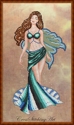 Cross Stitching Art, Venus, The Fairy Of Love, Needles and Things