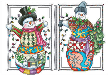 Vickery Collection, Two Happy Snowmen, Needles and Things