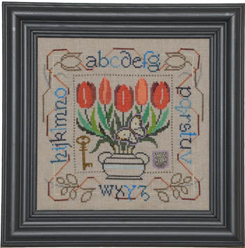 Tellin Emblem, Potted Posies Sampler - Tulips, Needles and Things