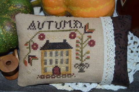 Abby Rose Designs, An Autumn Pillow, Needles and Things