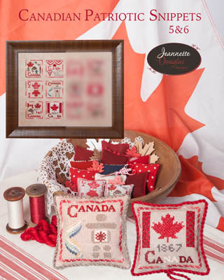 Jeannette Douglas Designs, Canadian Patriotic Snippets -5 & 6, Needles and Things