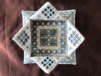 Terri Bay Needlework Designs, Hardanger Lotus Box, Needles and Things