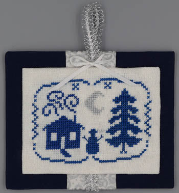Misty Hill Studio, Night (Blue & Silver Christmas), Needles and Things