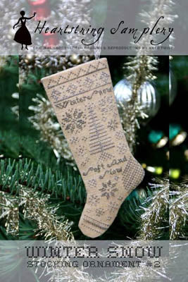 Heartstring Samplery, Winter Snow Stocking Ornament, Needles and Things