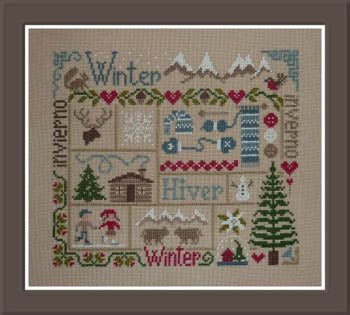 Jardin Prive', Sampler Hiver, Needles and Things