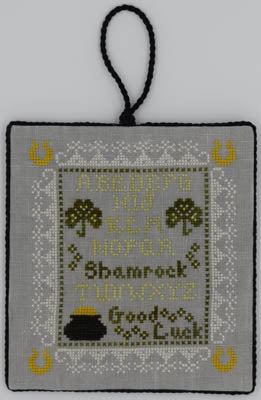 Misty Hill Studio, Tiny Shamrock Sampler, Needles and Things