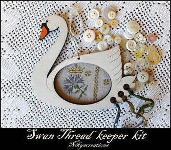 Nikyscreations, Swan Thread Keeper Kit, Needles and Things