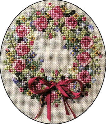 Cross-Point Designs, Summer Spledor Wreath, Needles and Things