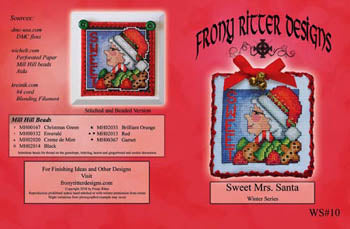 Frony Ritter Designs, Sweet Mrs. Santa, Needles and Things