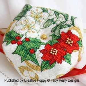 Faby Reilly Designs, Christmas Biscornu, Needles and Things
