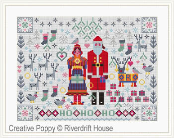 Riverdrift House, Santa & Mrs Claus Folkies, Needles and Things