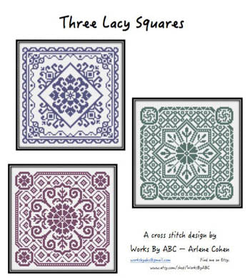 Works By ABC, Three Lacy Squares, Needles and Things