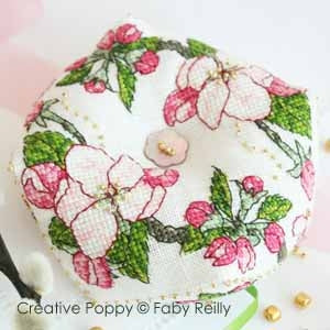 Faby Reilly Designs, Apple Blossom Biscornu, Needles and Things