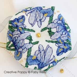 Faby Reilly Designs, Iris Biscornu, Needles and Things