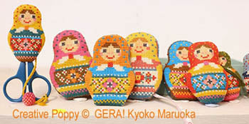 GERA By Kyoko Maruoka Gera, Matryoshka Needlework Set, Needles and Things