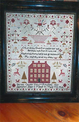 Chessie & Me, Sarah Casey Unwin 1848 Sampler, Needles and Things