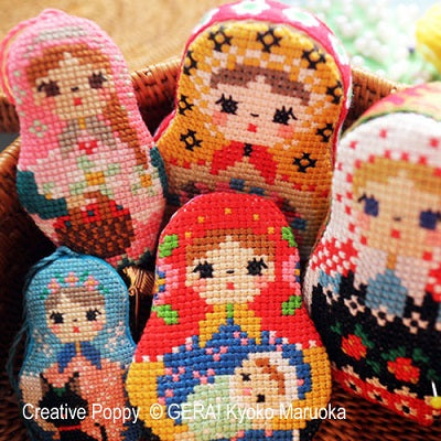 GERA By Kyoko Maruoka Gera, Matryoshka Needlework Set II, Needles and Things