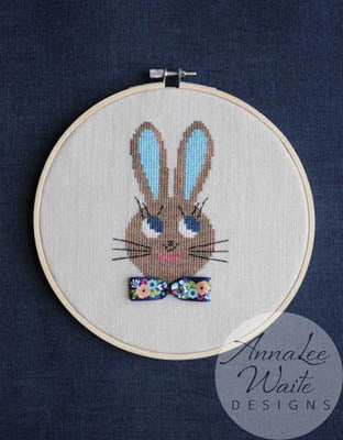 Annalee Waite Designs, Ribbon Rabbit Girl, Needles and Things