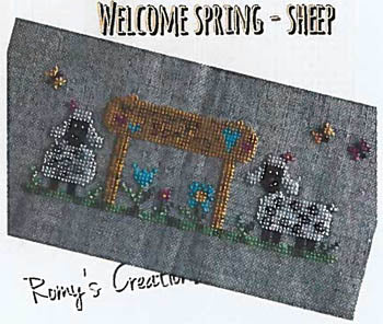 Romy's Creations, Welcome Spring Sheep, Needles and Things