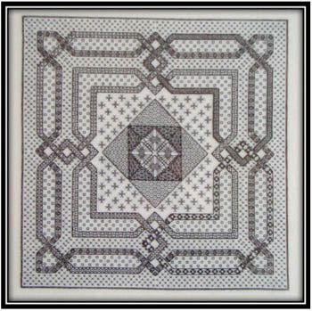 Works By ABC, Woven Geometry In Blackwork, Needles and Things