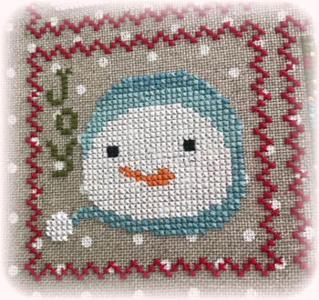 Annie Beez Folk Art, Snowy - 7, Needles and Things