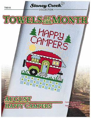 Stoney Creek Collection, Towels Of The Month - August Happy Campers (TM018), Needles and Things