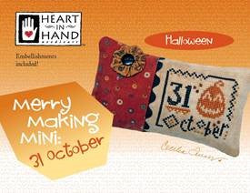 Heart In Hand Needleart, Merry Making Mini - 31 October(w/emb), Needles and Things