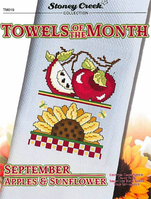 Stoney Creek Collection, Towels Of The Month - September Apples & Sunflower (TM019), Needles and Things