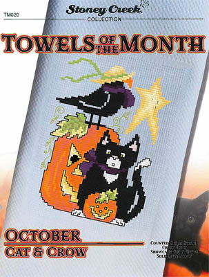 Towels Of The Month - OctoberCat & Crow (TM020)