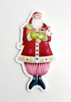 Santa Lovely Magnet (Santa w/gifts)