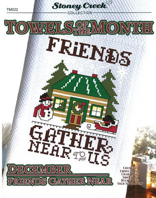 Towels Of The Month - DecemberFriends Gather Near (TM022)