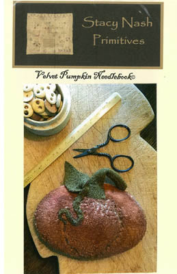 Velvet Pumpkin Needle Book