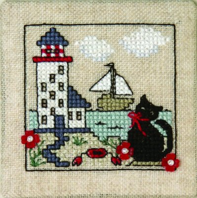 Itty Bitty Kitty - At The Lighthouse (w/charms)