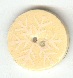 Sweetwater Buttons, Cream Snowflake, Needles and Things