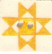 "Jim Shore Collection, Yellow Ohio Star; 3/4"" x 3/4"", Needles and Things"