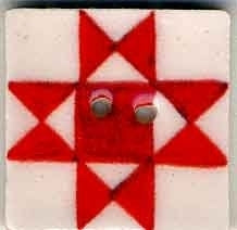 "Jim Shore Collection, Red Ohio Star; 3/4"" x 3/4"", Needles and Things"