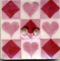 "Jim Shore Collection, Rose Tic Tac Toe; 3/4"" x 3/4"", Needles and Things"