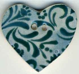 "Jim Shore Collection, Teal Hearts Desire; 7/8"" x 7/8"", Needles and Things"