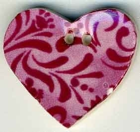 "Jim Shore Collection, Rose Hearts Desire; 7/8"" x 7/8"", Needles and Things"