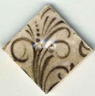 "Jim Shore Collection, Taupe Flourish Diamond ; 1"" x 1"" diagonally, Needles and Things"