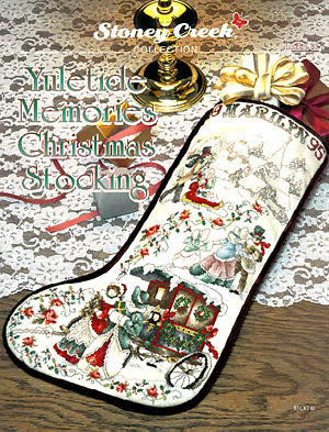 Stoney Creek Collection, Yuletide Memories Christmas Stocking, Needles and Things