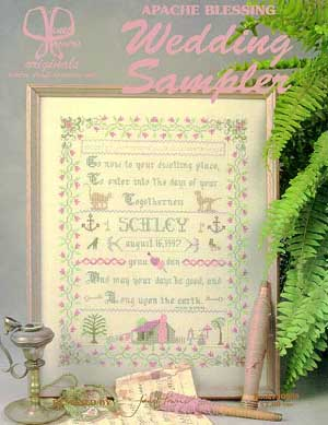 Janet Powers Originals, Wedding Sampler (Apache Blessing), Needles and Things